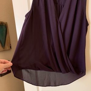 INC International Concepts Tops - INC International Concepts Purple Blouse